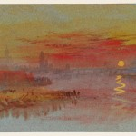 The Scarlet Sunset circa 1830-40 by Joseph Mallord William Turner 1775-1851