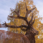 Espíritu del Bosque. 2014. Hierro desplegado. 210 x 130 x 235 cm.