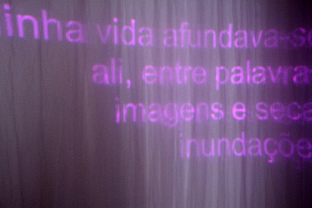 """Imagens da instalação """"Aquiescrituras"""", do grupo Humor Aquoso (FE-Unicamp)"""
