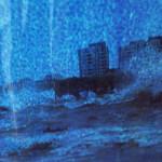 Até onde a água chegou, do Coletivo multiTÃO, 2015. A instalação fez parte da exposição Aparições, no MIS-Campinas, em maio de 2015. Veja esta notícia também no link: http://climacom.mudancasclimaticas.net.br/?p=1900