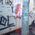 Velho Chico, de Claudio Camargo e Diego Alexandre de Souza, 2015. A intervenção urbana fez parte da exposição Aparições realizada no MIS-Campinas em maio de 2015. Veja esta notícia também no link: http://climacom.mudancasclimaticas.net.br/?p=1900