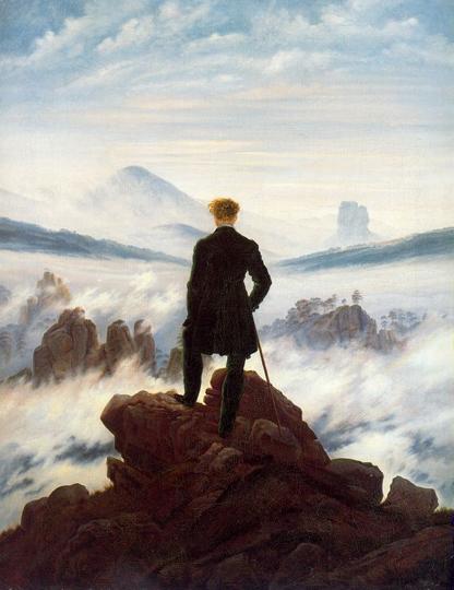 Friedrich, El trotamundos sobre el mar de neblinas