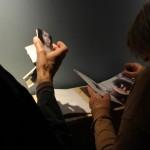 Wonderland Project installation, detail of photo journals