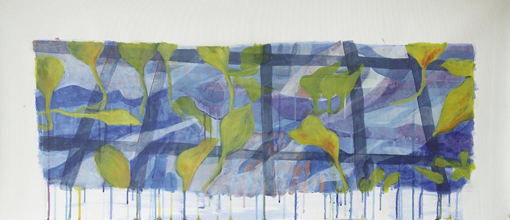 3 Estrutura Gabriela Cunha Acrilica sobre tela 99 x 42 cm 2019