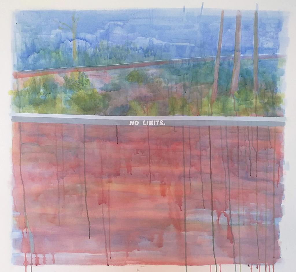 8 No limits Gabriela Cunha Acrilica e caneta posca sobre tela 104 x 98 cm 2019